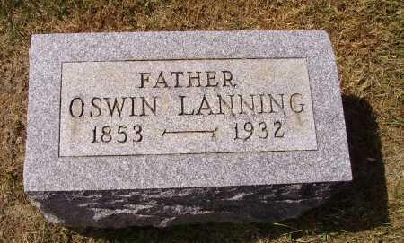 LANNING, OSWIN - Meigs County, Ohio | OSWIN LANNING - Ohio Gravestone Photos