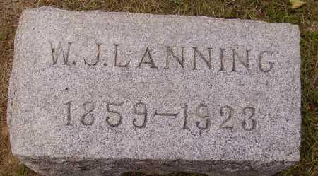 LANNING, WILLIAM J. - Meigs County, Ohio | WILLIAM J. LANNING - Ohio Gravestone Photos