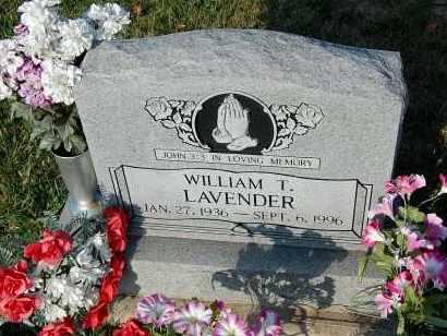 LAVENDER, WILLIAM T. - Meigs County, Ohio   WILLIAM T. LAVENDER - Ohio Gravestone Photos