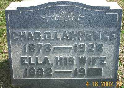 LAWRENCE, ELLA - Meigs County, Ohio | ELLA LAWRENCE - Ohio Gravestone Photos