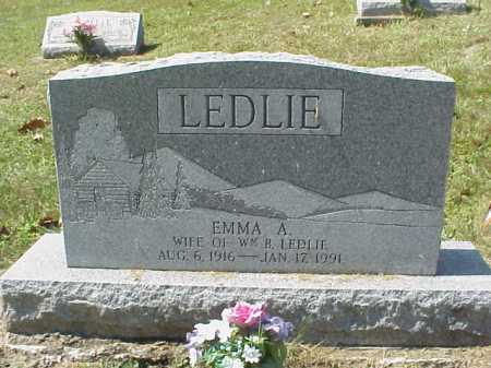 WEAVER LEDLIE, EMMA A. - Meigs County, Ohio | EMMA A. WEAVER LEDLIE - Ohio Gravestone Photos