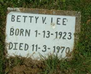LEE, BETTY V. - Meigs County, Ohio | BETTY V. LEE - Ohio Gravestone Photos