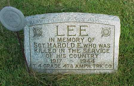 LEE, HAROLD E. - Meigs County, Ohio | HAROLD E. LEE - Ohio Gravestone Photos