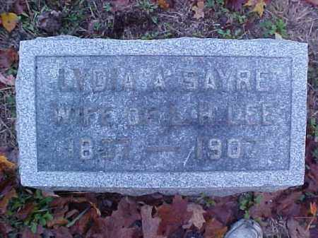 SAYRE LEE, LYDIA A. - Meigs County, Ohio | LYDIA A. SAYRE LEE - Ohio Gravestone Photos