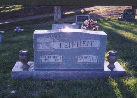 LEIFHEIT, WILMETTA B. - Meigs County, Ohio | WILMETTA B. LEIFHEIT - Ohio Gravestone Photos