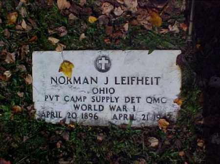 LEIFHEIT, NORMAN J. - Meigs County, Ohio | NORMAN J. LEIFHEIT - Ohio Gravestone Photos