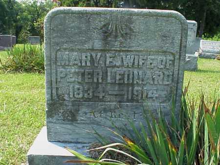 LEONARD, MARY E. - Meigs County, Ohio | MARY E. LEONARD - Ohio Gravestone Photos