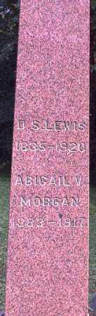 MORGAN LEWIS, ABIGAIL V. - Meigs County, Ohio | ABIGAIL V. MORGAN LEWIS - Ohio Gravestone Photos