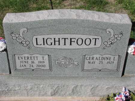 LIGHTFOOT, GERALDINE L. - Meigs County, Ohio | GERALDINE L. LIGHTFOOT - Ohio Gravestone Photos
