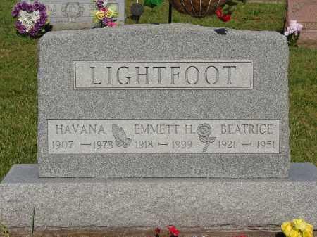 LIGHTFOOT, HAVANA - Meigs County, Ohio | HAVANA LIGHTFOOT - Ohio Gravestone Photos
