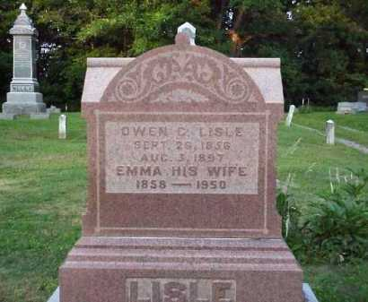 LISLE, EMMA - Meigs County, Ohio   EMMA LISLE - Ohio Gravestone Photos