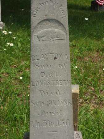 LONGSTRETH, CLAYTON A. - Meigs County, Ohio | CLAYTON A. LONGSTRETH - Ohio Gravestone Photos