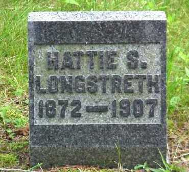 LONGSTRETH, HATTIE S. - Meigs County, Ohio   HATTIE S. LONGSTRETH - Ohio Gravestone Photos