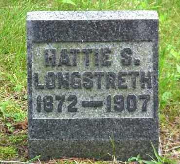 LONGSTRETH, HATTIE S. - Meigs County, Ohio | HATTIE S. LONGSTRETH - Ohio Gravestone Photos