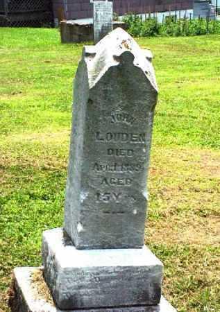 LOUDEN, JOHN - Meigs County, Ohio   JOHN LOUDEN - Ohio Gravestone Photos
