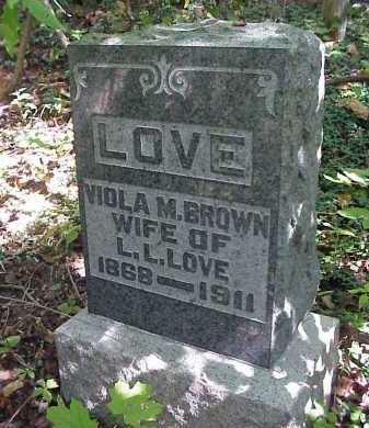 BROWN LOVE, VIOLA M. - Meigs County, Ohio | VIOLA M. BROWN LOVE - Ohio Gravestone Photos
