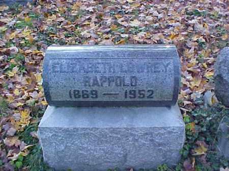 RAPPOLD LOWERY, ELIZABETH - Meigs County, Ohio | ELIZABETH RAPPOLD LOWERY - Ohio Gravestone Photos