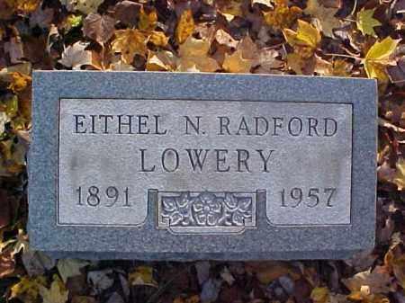 RADFORD LOWERY, EITHEL N. - Meigs County, Ohio | EITHEL N. RADFORD LOWERY - Ohio Gravestone Photos