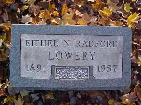 LOWERY, EITHEL N. - Meigs County, Ohio   EITHEL N. LOWERY - Ohio Gravestone Photos