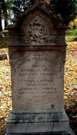 LOWRY, TALLITHA - Meigs County, Ohio | TALLITHA LOWRY - Ohio Gravestone Photos