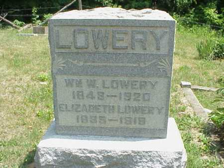 LOWERY, WILLIAM W. - Meigs County, Ohio | WILLIAM W. LOWERY - Ohio Gravestone Photos