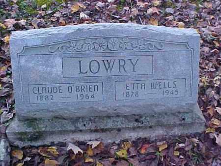 WELLS LOWRY, ETTA - Meigs County, Ohio | ETTA WELLS LOWRY - Ohio Gravestone Photos