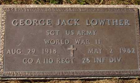 LOWTHER, GEORGE JACK - MILITARY - Meigs County, Ohio | GEORGE JACK - MILITARY LOWTHER - Ohio Gravestone Photos