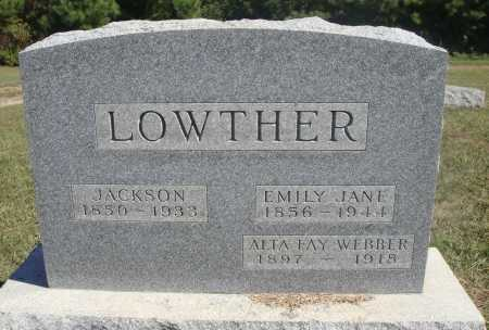 CASTOR LOWTHER, EMILY JANE - Meigs County, Ohio | EMILY JANE CASTOR LOWTHER - Ohio Gravestone Photos