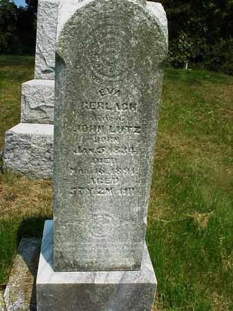 GERLACH LUTZ, EVA - Meigs County, Ohio   EVA GERLACH LUTZ - Ohio Gravestone Photos