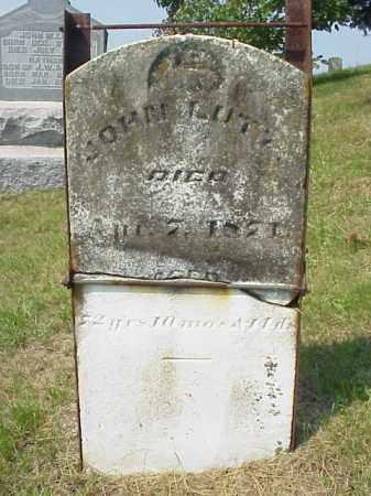 LUTZ, JOHN - Meigs County, Ohio   JOHN LUTZ - Ohio Gravestone Photos
