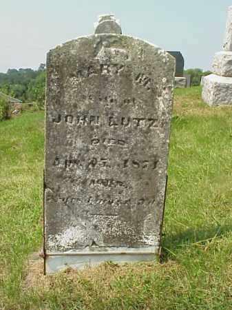 LUTZ, MARY M. - Meigs County, Ohio   MARY M. LUTZ - Ohio Gravestone Photos