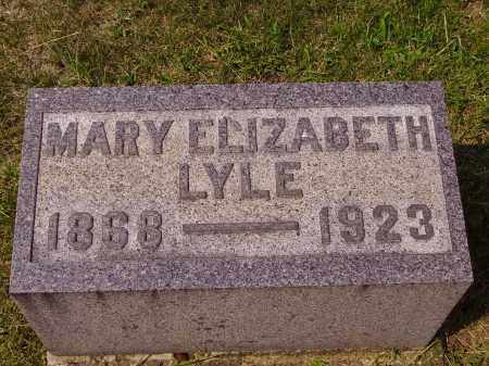LYLE, MARY ELIZABETH - Meigs County, Ohio | MARY ELIZABETH LYLE - Ohio Gravestone Photos
