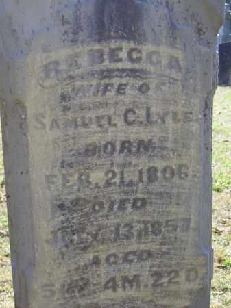 LYLE, REBECCA - CLOSE VIEW - Meigs County, Ohio | REBECCA - CLOSE VIEW LYLE - Ohio Gravestone Photos