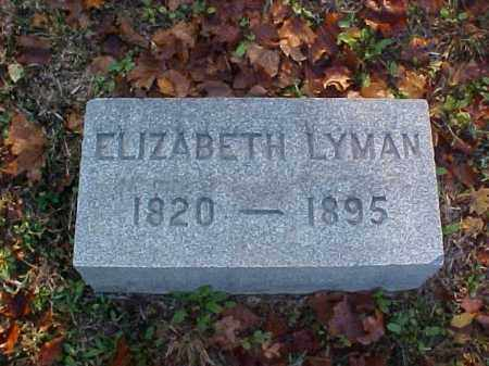 LYMAN, ELIZABETH - Meigs County, Ohio | ELIZABETH LYMAN - Ohio Gravestone Photos