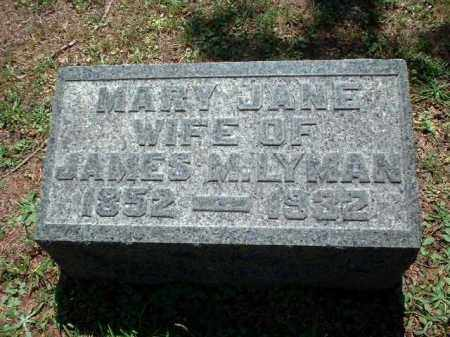 LYMAN, MARY JANE - Meigs County, Ohio | MARY JANE LYMAN - Ohio Gravestone Photos