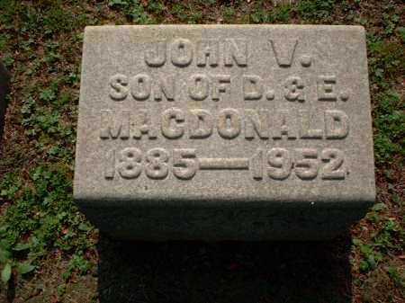 MACDONALD, JOHN V. - Meigs County, Ohio | JOHN V. MACDONALD - Ohio Gravestone Photos