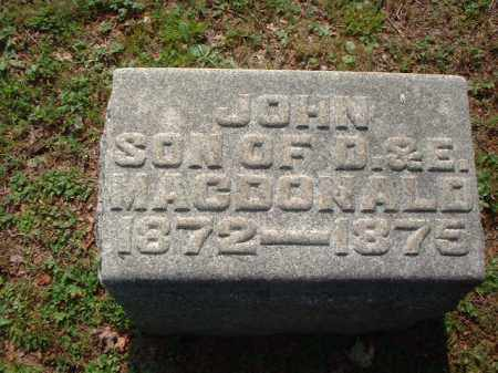 MACDONALD, JOHN - Meigs County, Ohio | JOHN MACDONALD - Ohio Gravestone Photos