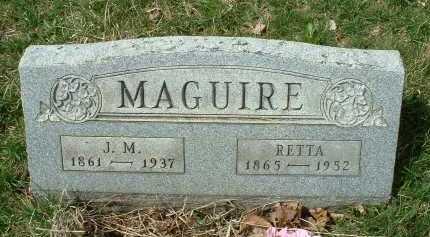 MAGUIRE, JOHN M. - Meigs County, Ohio | JOHN M. MAGUIRE - Ohio Gravestone Photos