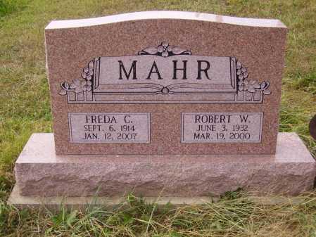 MAHR, ROBERT W. - Meigs County, Ohio   ROBERT W. MAHR - Ohio Gravestone Photos