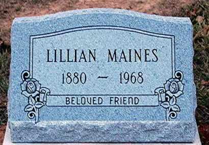 MAINES, LILLIAN - Meigs County, Ohio   LILLIAN MAINES - Ohio Gravestone Photos