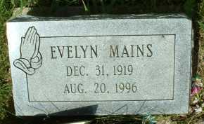 MAINS, EVELYN - Meigs County, Ohio | EVELYN MAINS - Ohio Gravestone Photos