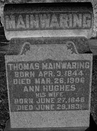 MAINWARING, ANN - Meigs County, Ohio | ANN MAINWARING - Ohio Gravestone Photos