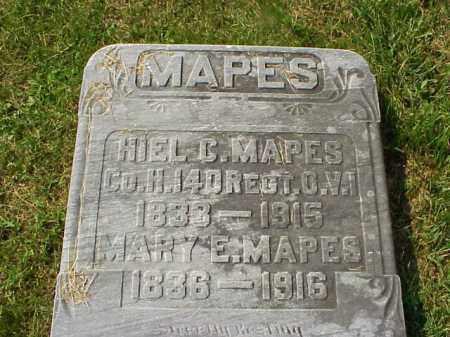 MAPES, HIEL C. - Meigs County, Ohio | HIEL C. MAPES - Ohio Gravestone Photos