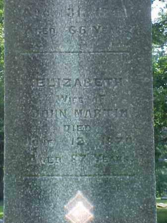 MARTIN, ELIZABETH - Meigs County, Ohio   ELIZABETH MARTIN - Ohio Gravestone Photos