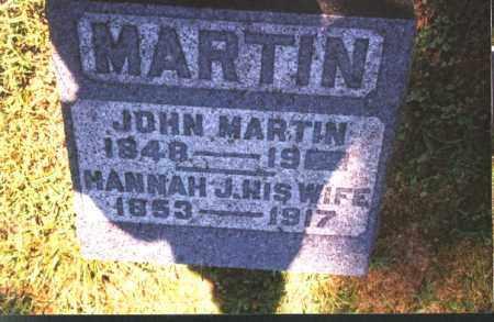 MARTIN, HANNAH J. - Meigs County, Ohio | HANNAH J. MARTIN - Ohio Gravestone Photos