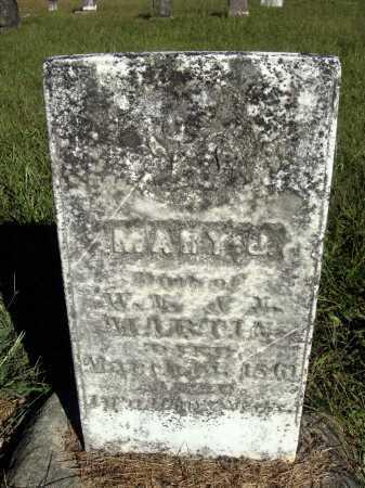 MARTIN, MARY J. - Meigs County, Ohio   MARY J. MARTIN - Ohio Gravestone Photos