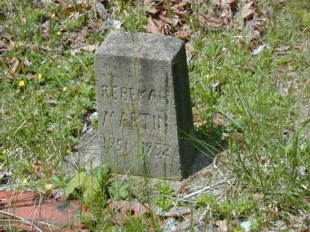 MARTIN, REBEKAH - Meigs County, Ohio   REBEKAH MARTIN - Ohio Gravestone Photos