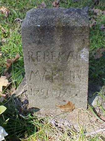 MARTIN, REBEKAH - Meigs County, Ohio | REBEKAH MARTIN - Ohio Gravestone Photos