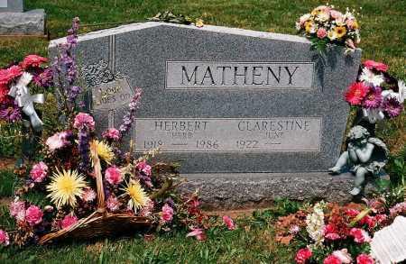 MATHENY, CLARESTINE - Meigs County, Ohio | CLARESTINE MATHENY - Ohio Gravestone Photos