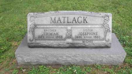 MATLACK, JERIMIAH - Meigs County, Ohio | JERIMIAH MATLACK - Ohio Gravestone Photos